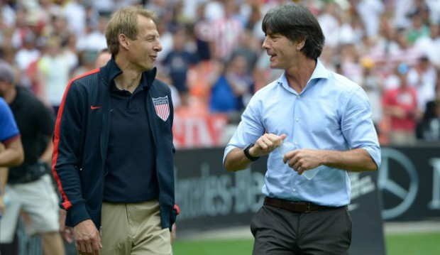 US coach Juergen Klinsmann and Germany Joachim Loew