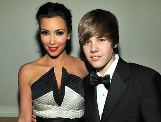 Justin Bieber and Kim Kardashian at White House Correspondents' dinner