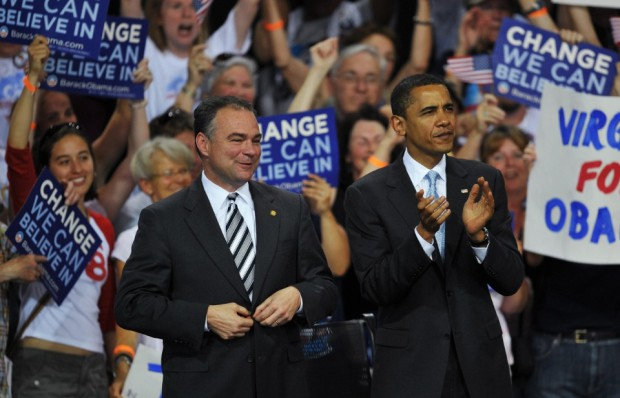 Barack Obama and Tim Kaine