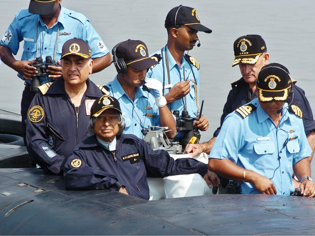 Abdul Kalam with Navy Staff