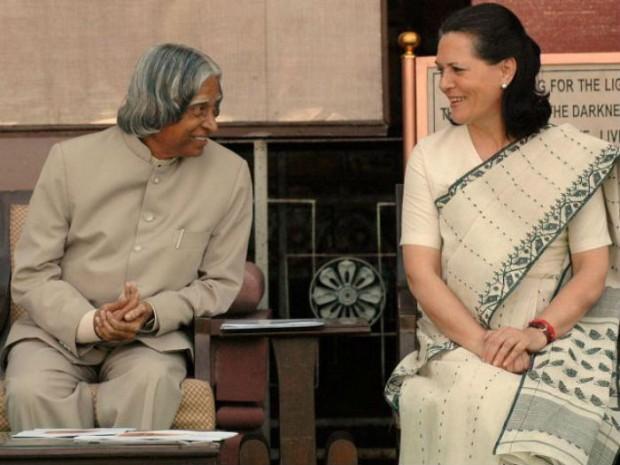 Sonia Gandhi with Abdul Kalam