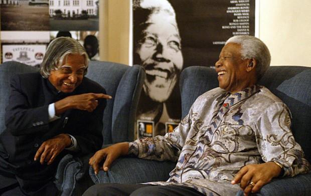 Kalam with Nelson Mandela