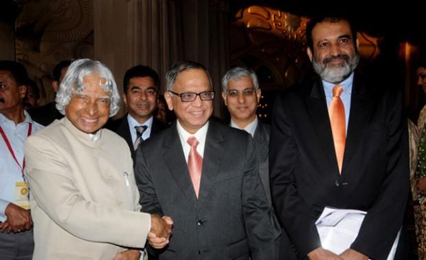 Infosys Chairman NR Narayana Murthy with Abdul Kalam
