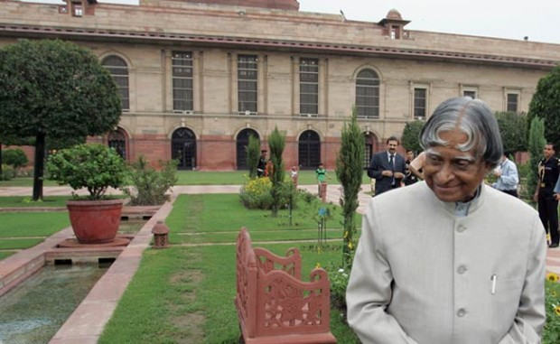 Abdul Kalam in garden of Presidential Palace