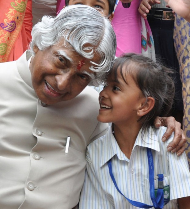 Abdul Kalam with a kid