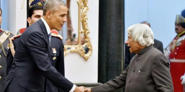 Barack Obama meets APJ Abdul Kalam