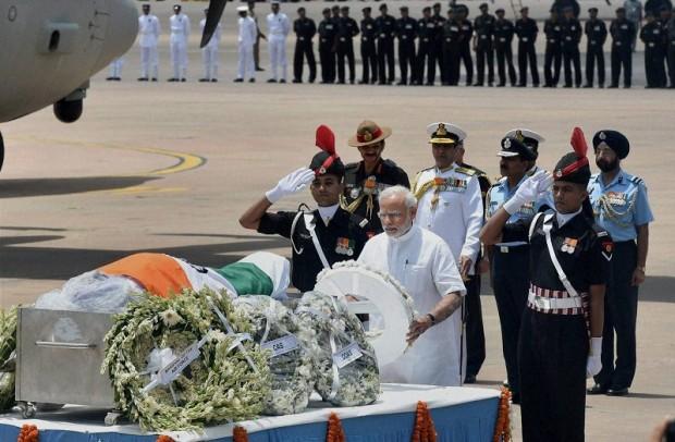 Narendra Modi tributes his respect to Bharat Ratna APJ Abdul Kalam