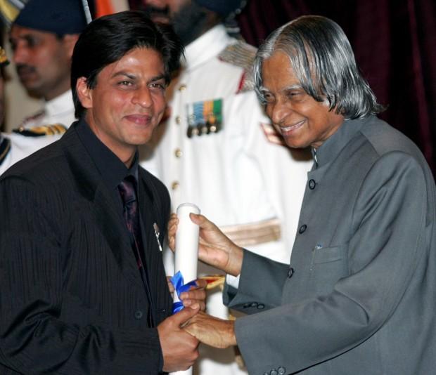 Shah Rukh Khan with Abdul Kalam
