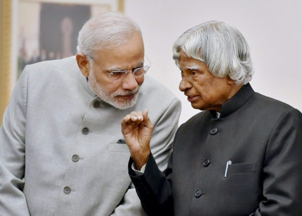 Narendra Modi with Kalam