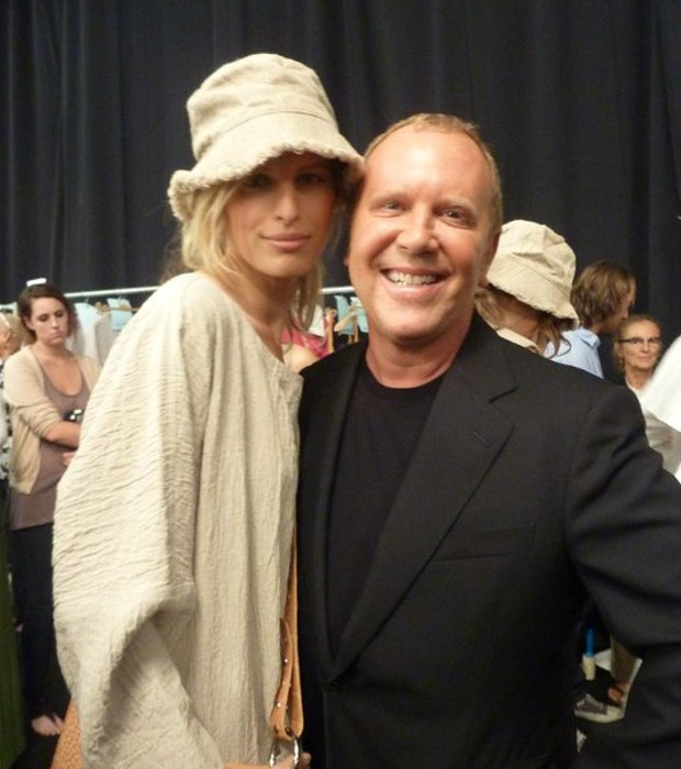 Michael with Karolina at Spring 2011 runway show