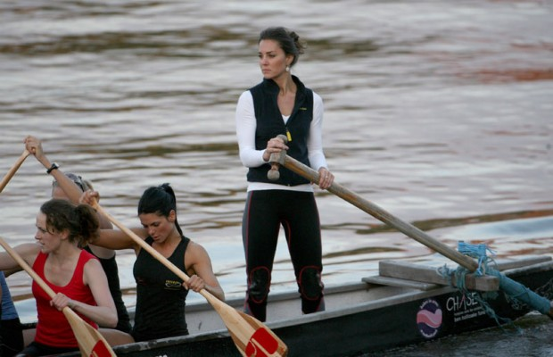 Kate Middleton during a Boat Race