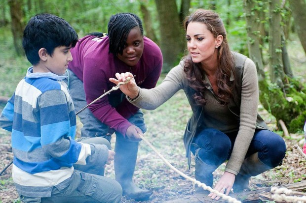Kate Middleton helped out with children from Expanding Horizons' primary school outdoor camp