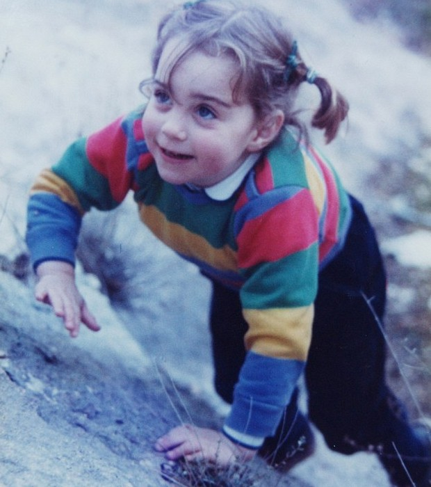 Kate Middleton in her childhood
