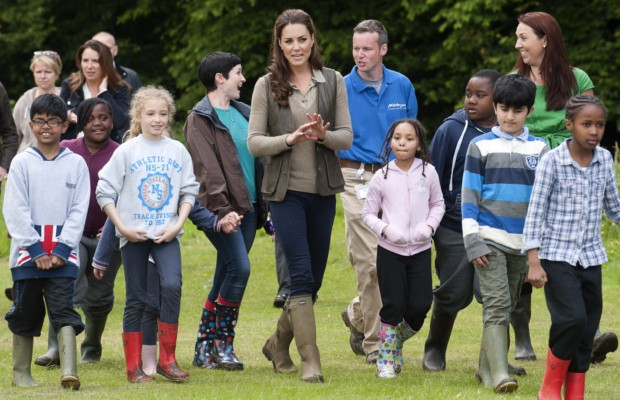 Kate Middleton took a walk with children from Expanding Horizons' primary school outdoor