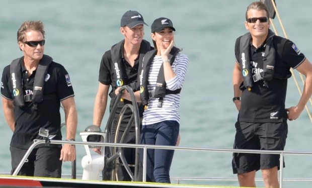 Kate Middleton during yacht race