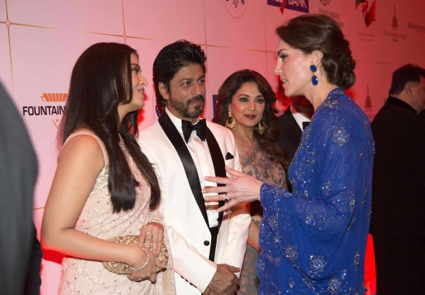 Kate Middleton with Indian Actors