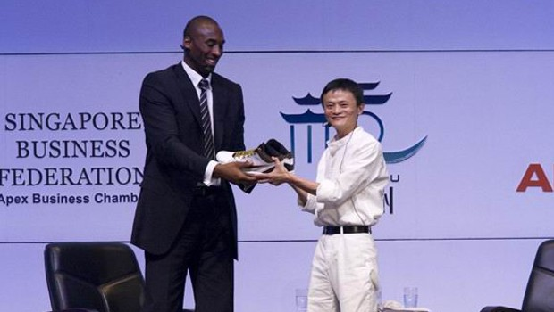 Jack Ma with Basket Ball Player Kobe Bryant