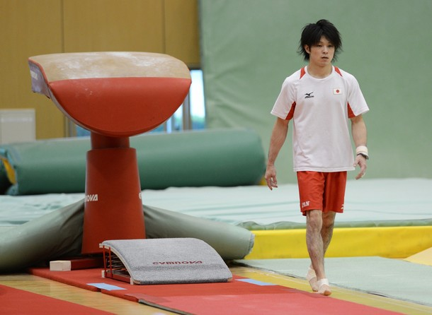 Kohei durinng practice session