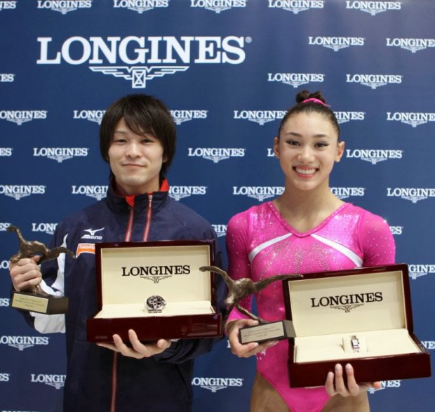 Kohei Uchimura and Kyla Ross awarded with Longines Award