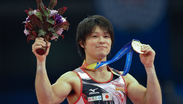 Kohei won gold medal at World Artistic Gymnastics Championships