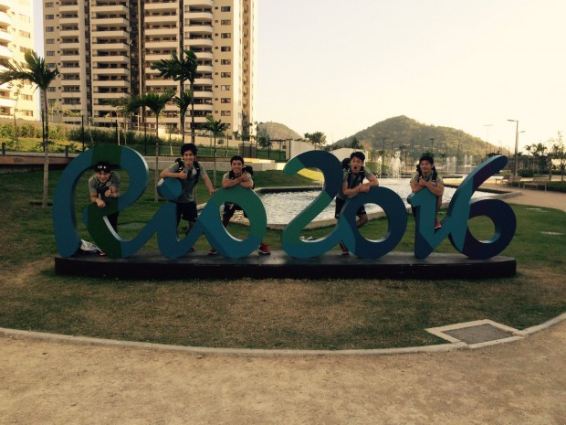 Japan Gymnastics team at Rio