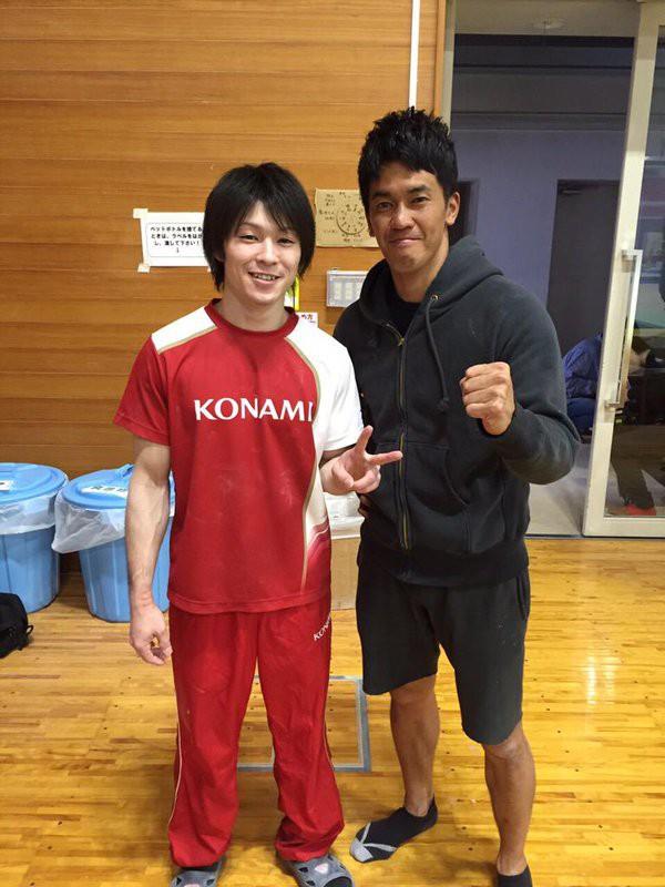 Takeshi Takei and Kohei Uchimura