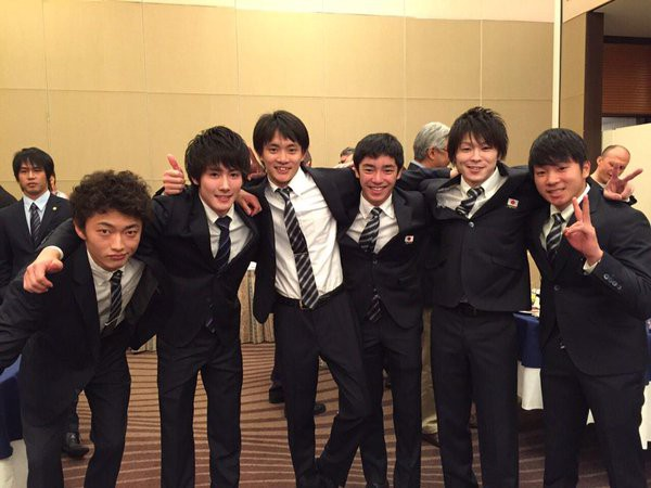 Kohei and teammates at Toyoda International