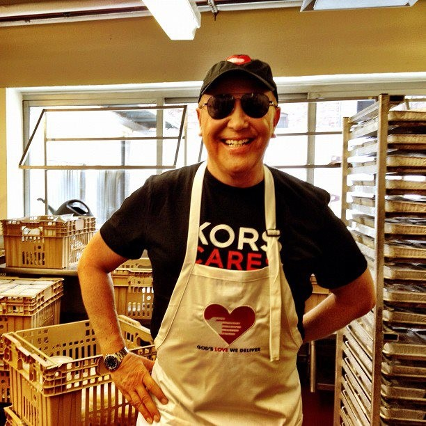 Michael Kors as cheff for  God's Love We Deliver Charity
