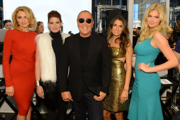 Michael Kors with Actresses and Models at NYC Fashion Night Out