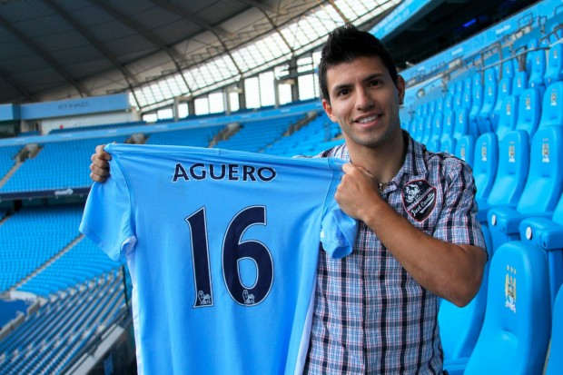 Kun with his Man.City 16 Number Jersey