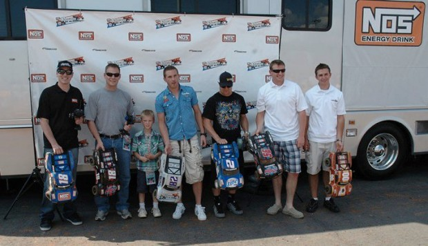 Kyle with Dave Rogers, Scott Speed, TJ Bell, Michael McDowell and Matt DiBenedetto