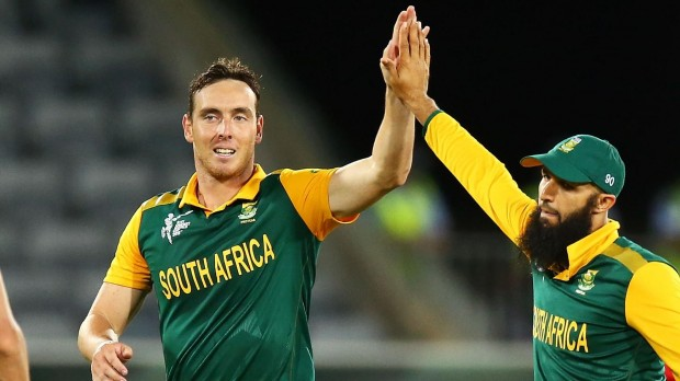 Kyle Abbott With Hashim Amla
