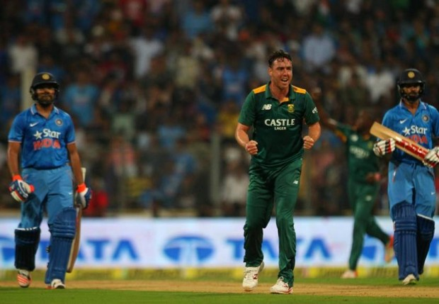 Kyle Abbott After Taking Wicket Of Rohit Sharma