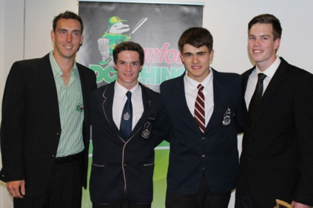 Kyle Abbott With Tristan Tedder, Jame Tedder and Craig Kirsten