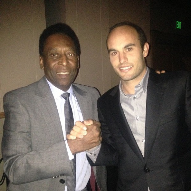 Landon Donovan with soccer legend Pele