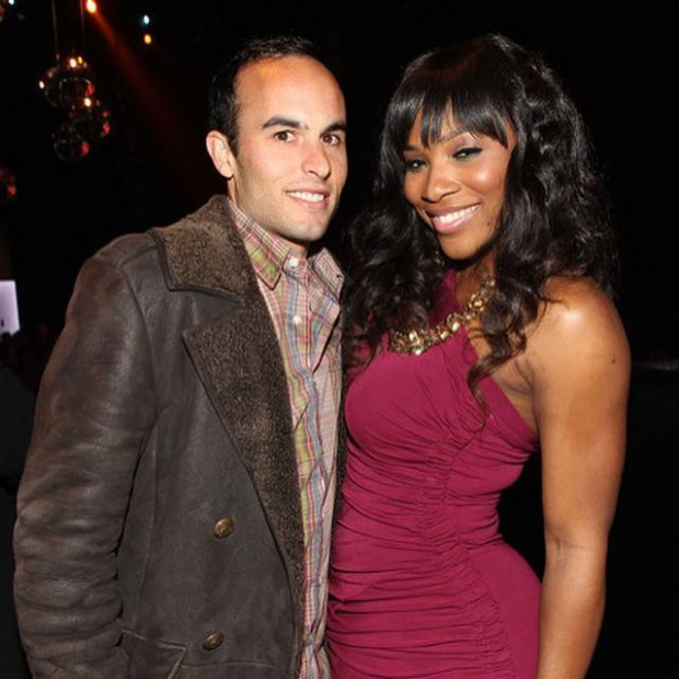 Landon with tennis player Serena Williams
