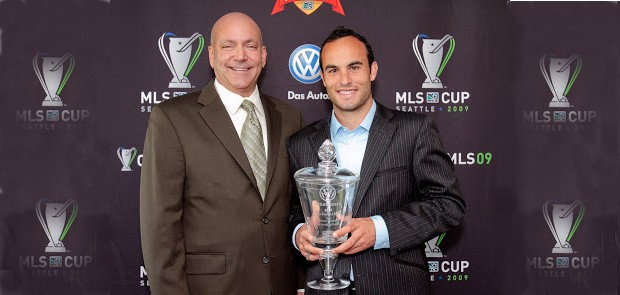 Landon Donovan with his MLS MVP Award