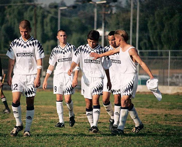 Landon Donovan with his high school soccer teammates