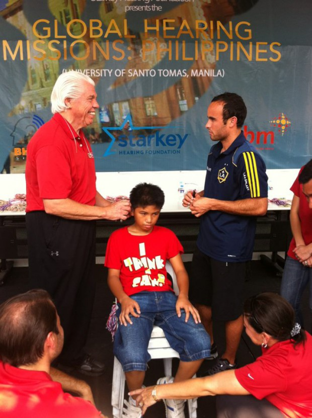 Landon attended to hearing aids program for Philippine young children