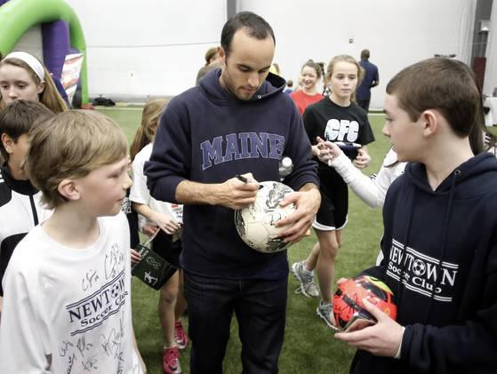 Landon Donovan at New Town Soccer Club