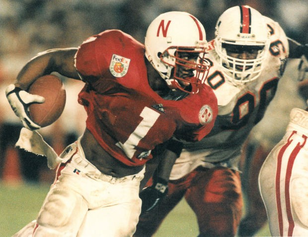 Lawrence Phillips during a game against Hurricanes