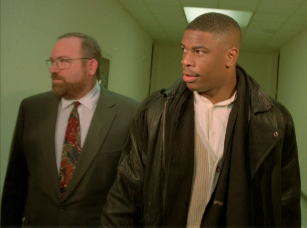 Lawrence Phillips with his attorney Hal Anderson