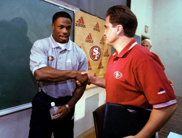 Lawrence Phillips with his coach Steve Mariucci