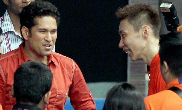 Lee Chong Wei with Indian Cricket Legend Sachin Tendulkar