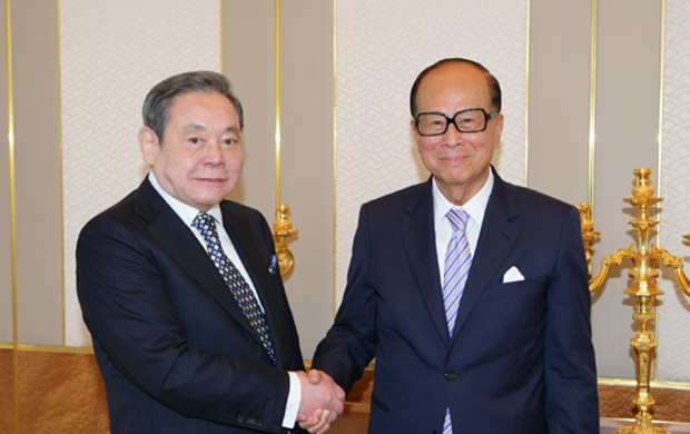 Asia's billionaires Lee Kun-Hee and Li Ka-shing