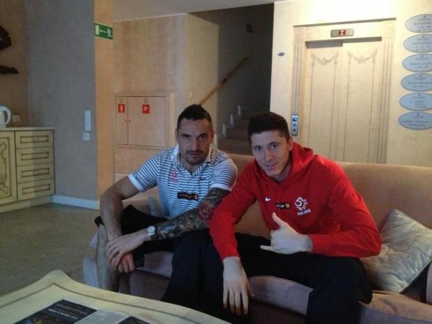Robert Lewandowski and Marcin Wasilewski