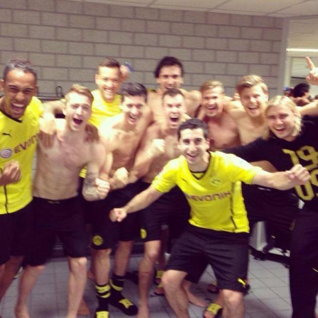 with Dortmund teammates