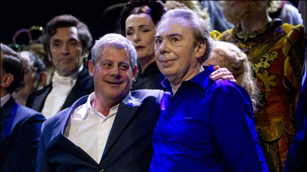 Cameron Mackintosh with Andrew Lloyd Webber