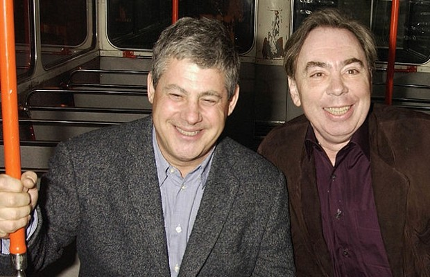 Andrew Lloyd Webber and Mackintosh during a bus ride