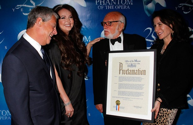 Cameron Mackintosh, Sarah Brightman, Harold Prince and Katherine Oliver
